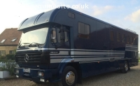 12,000£.//1995 MERCEDES 18 TON HORSEBOX 6 HORSE FULL LIVING